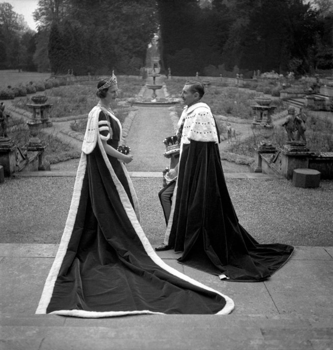 Cecil Beaton. 'The 15th Earl and Countess of Pembroke dressed for the coronation of George VI' 1937