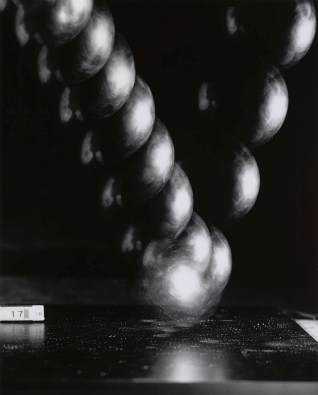 Harold Edgerton (American, 1903-1990) 'Bouncing Ball Bearing' 1962