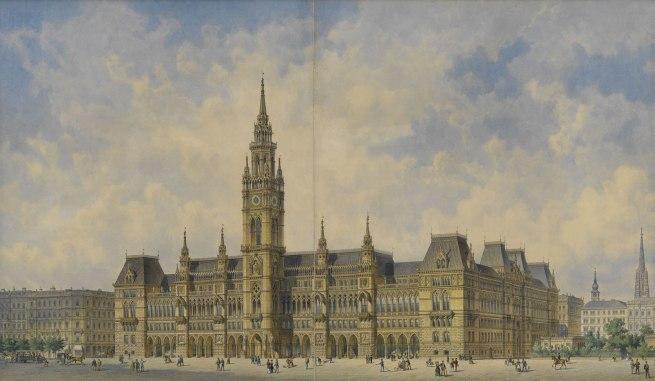 Friedrich von Schmidt. 'Winning design for the new City Hall building' 1869