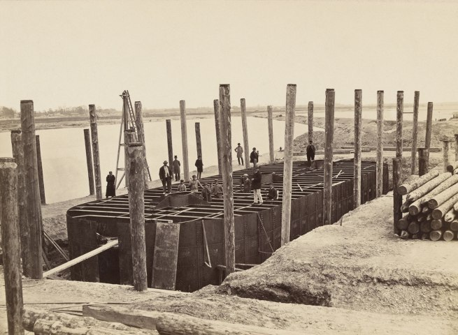 Anonymous. 'Construction of a new bridge (Reichsbrücke) across the Danube' 1873