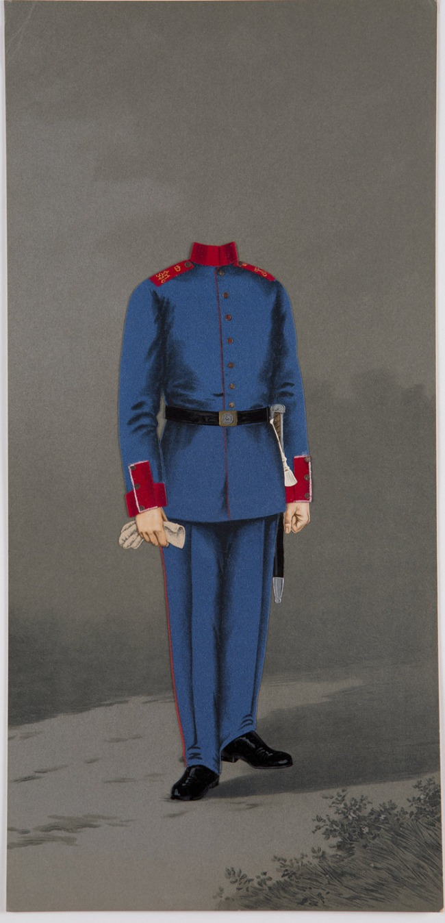 Unknown artist. 'Template for a photomontage (Royal Bavarian Infantry Regiment)' 2nd half of the 19th century