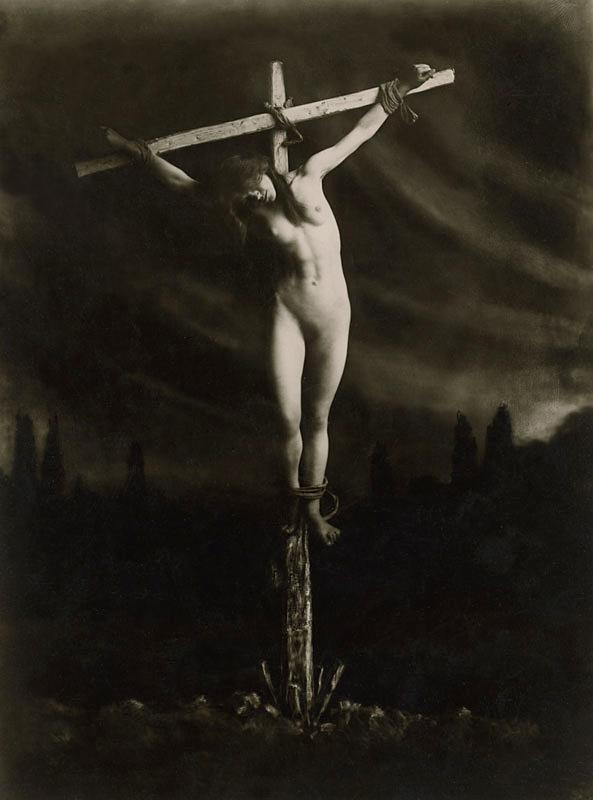 Frantisek Drtikol (1883-1961) 'Crucified' before 1914