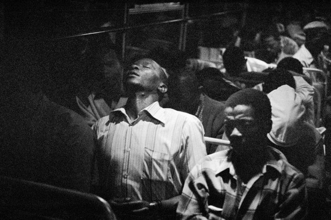 David Goldblatt. '9:00 Going home: Marabastad-Waterval bus' 1983-84