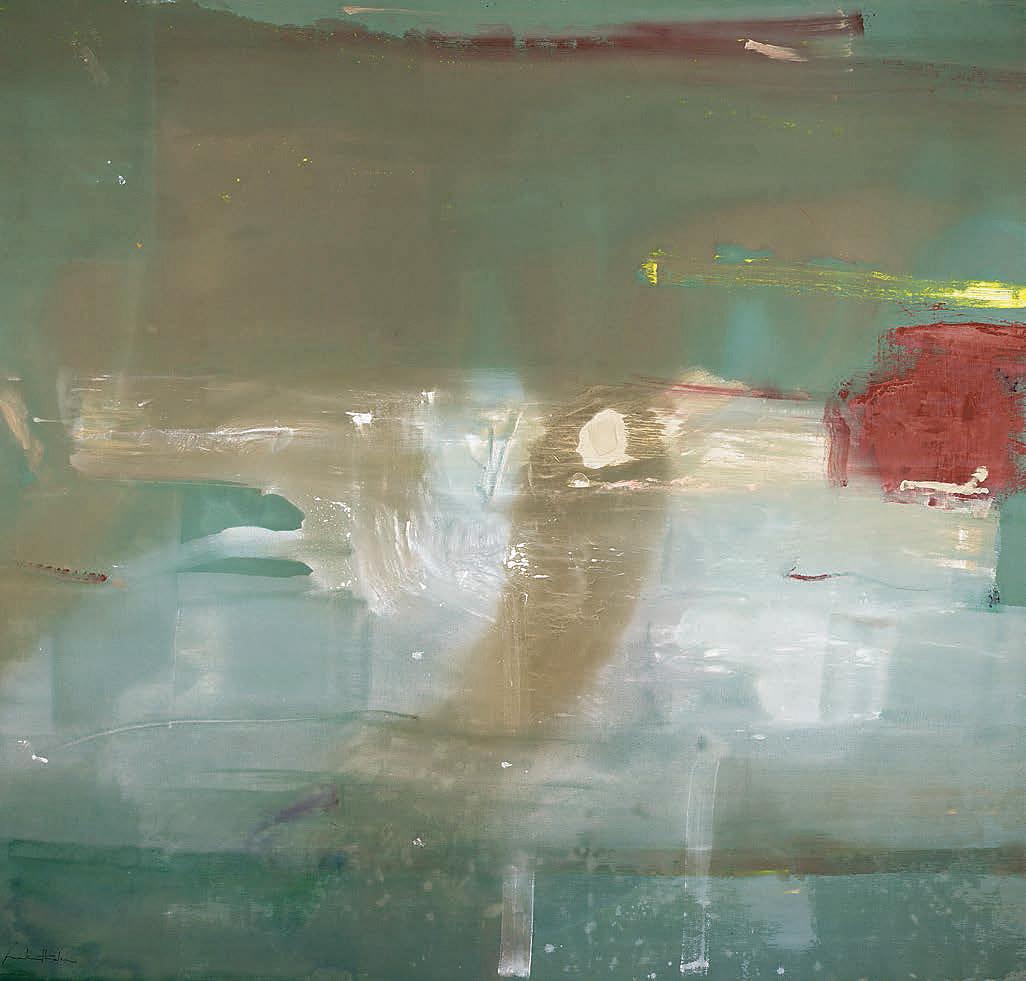 Helen frankenthaler february s turn art blart for What paint for canvas