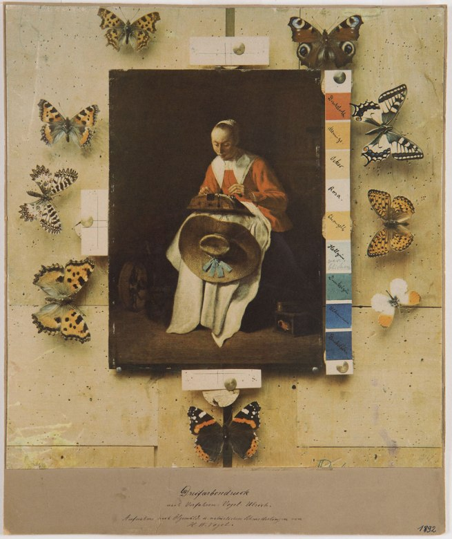 Hermann Wilhelm Vogel. 'Three-color printing process by Bird Ulrich. Uptake by oil paintings and natural butterflies' 1892