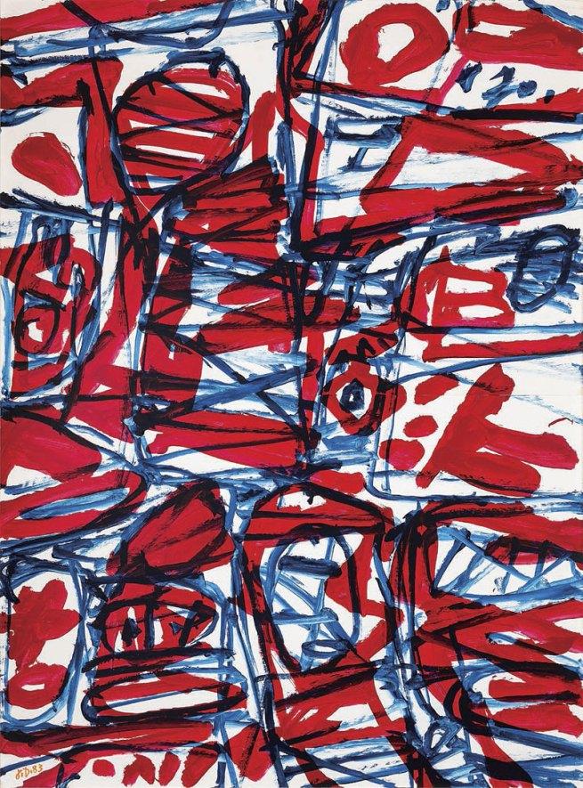 Jean Dubuffet. 'Mire G119' 1983