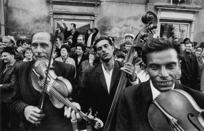 Josef Koudelka. Various images from the series 'Gypsies'