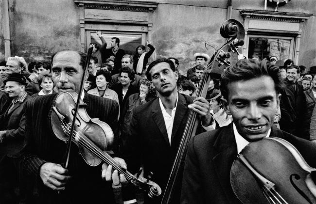 Josef Koudelka(Czech-French, b. 1938) 'Festival of gypsy music. Straznice, Czechoslovakia' 1966