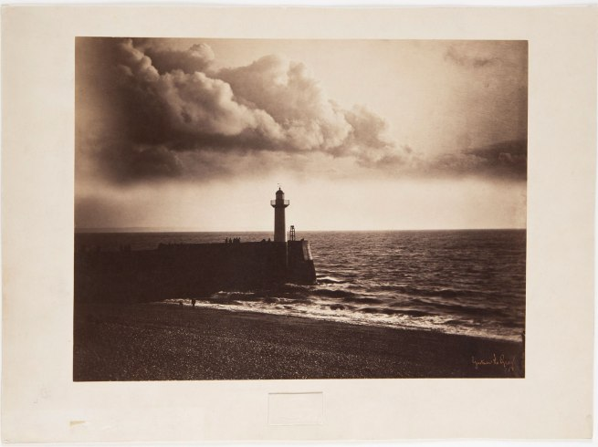 Gustave Le Gray. 'Pier and lighthouse at Le Havre' 1856
