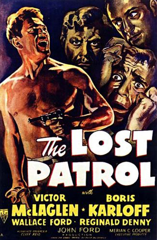 'The Lost Patrol' original theatrical poster