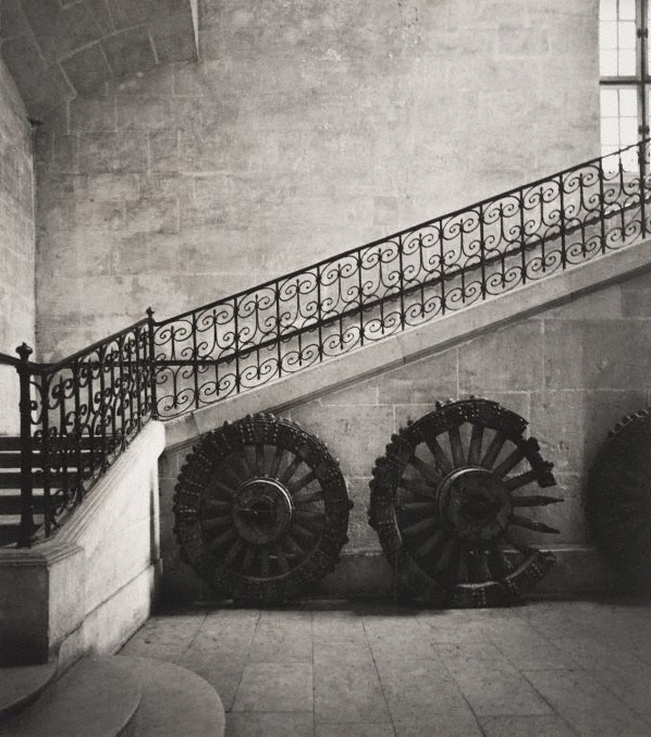 Max Dupain. 'Untitled (interior staircase and cart wheels)' 1978