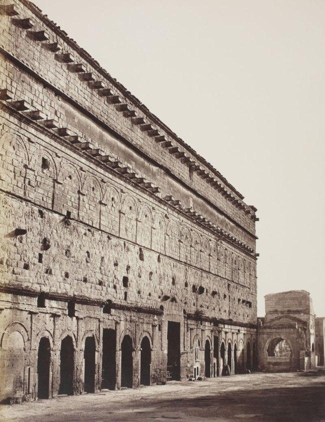 Édouard Baldus (1813-1889) 'Orange: The Wall of the Théâtre antique' 1858