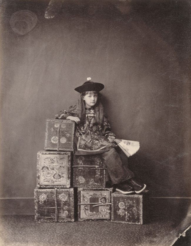 "Lewis Carroll (1832-1898) 'Alexandra ""Xie"" Kitchin as Chinese ""Tea-Merchant"" (on Duty)' 1873"