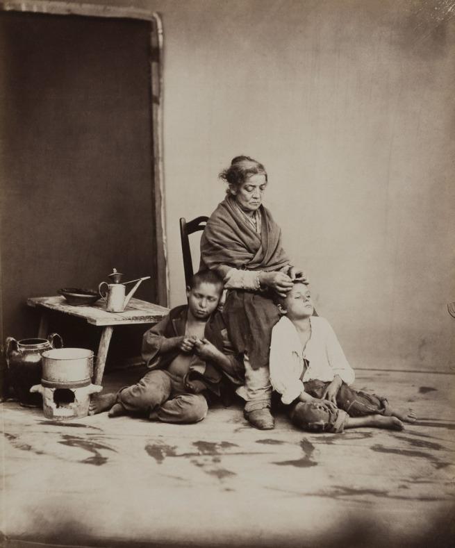 Giorgio Sommer (1834-1914) 'Naples: Delousing' c. 1870