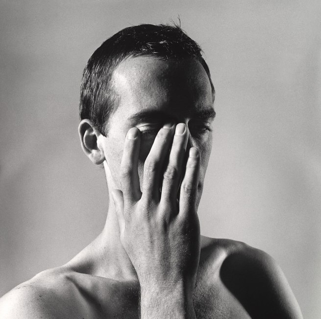 Peter Hujar (American, 1934-1987) 'David Wojnarowicz with Hand Touching Eye' 1981