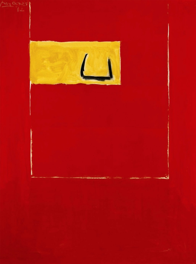 Robert Motherwell. 'Untitled (red)' 1972