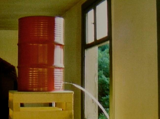 Roman Signer (Swiss, born 1938) 'Barrel (Fass)' 1985