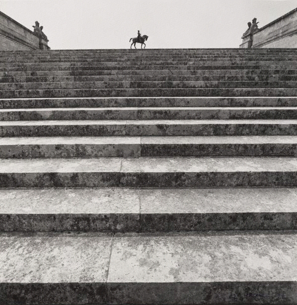 Max Dupain (Australia 22 Apr 1911 - 27 Jul 1992) 'Untitled (staircase and statue of Anne de Montmorency 1886 by Paul Dubois, Domaine de Chantilly)' from 'The Paris 'private' series' 1978