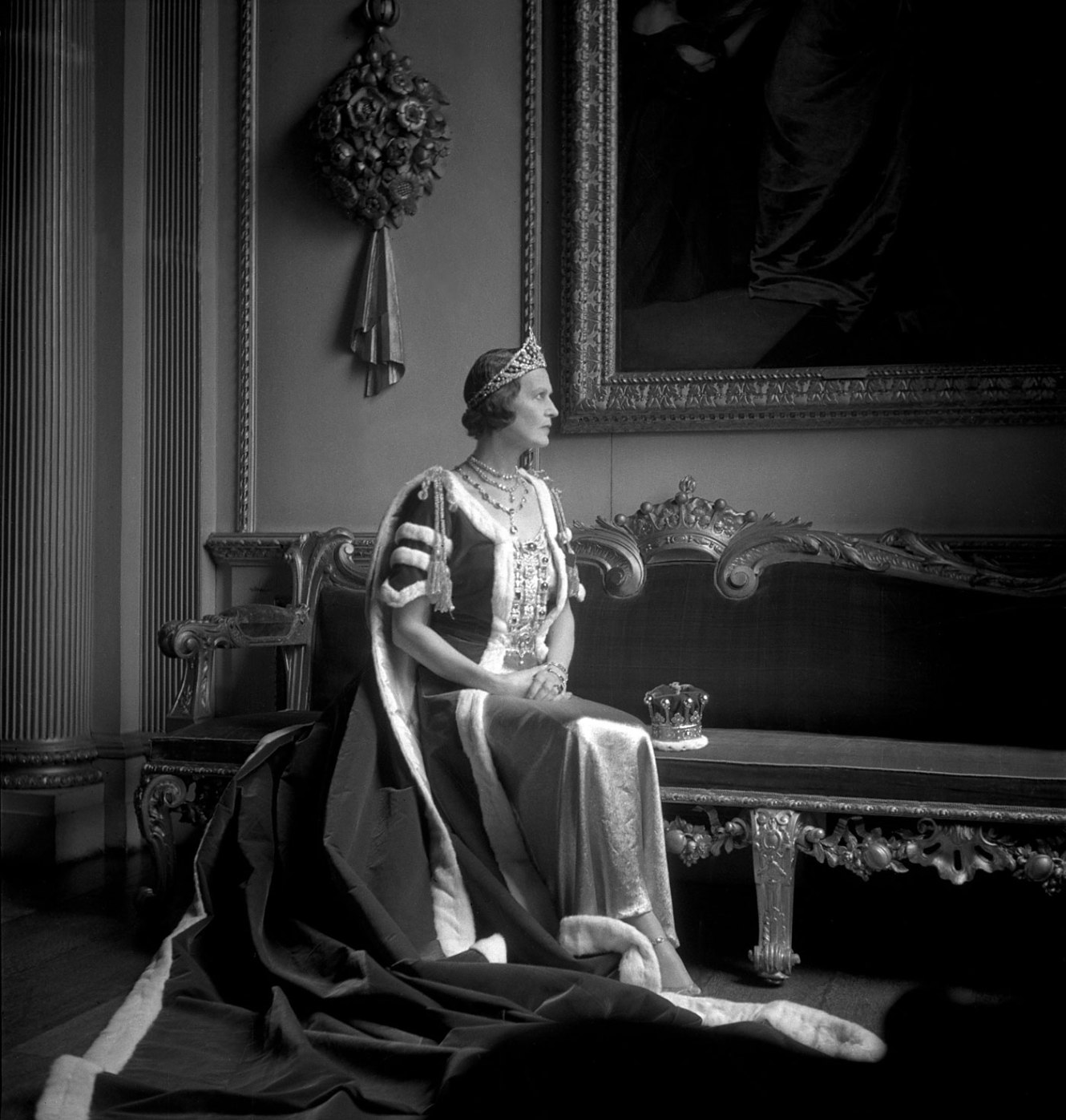 Cecil Beaton. 'The Countess of Pembroke in her Robes for the Coronation of George VI' 1937