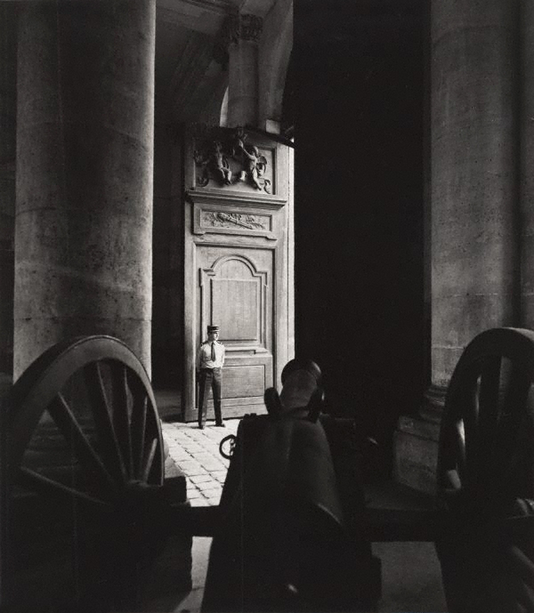 Max Dupain. 'Untitled (cannon with a guard standing in a doorway)' 1978