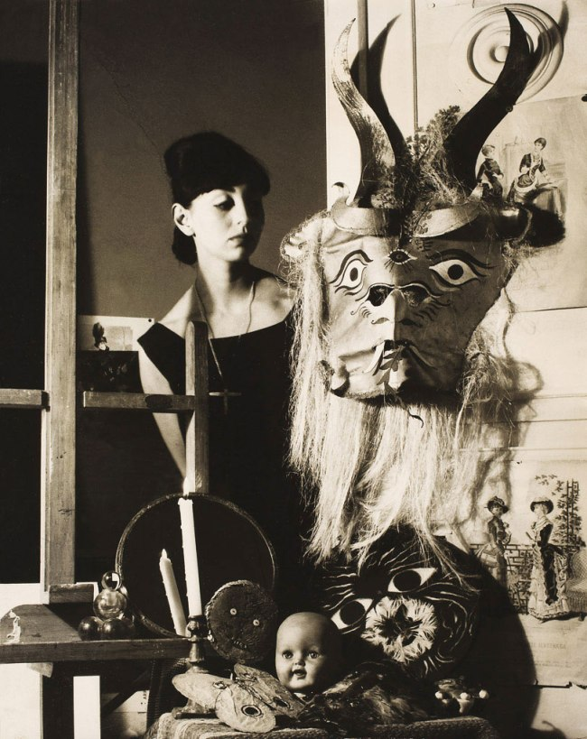 Kati Horna. 'Mujer y máscara' [Woman with Mask] Mexico, 1963