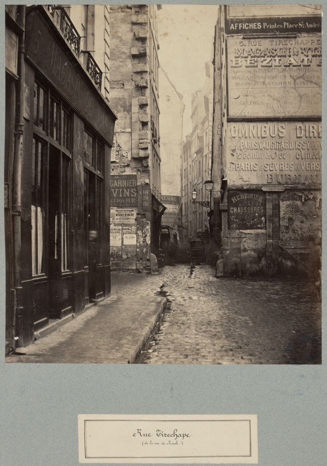 Charles Marville. 'Rue Tirechape' c. 1863-69