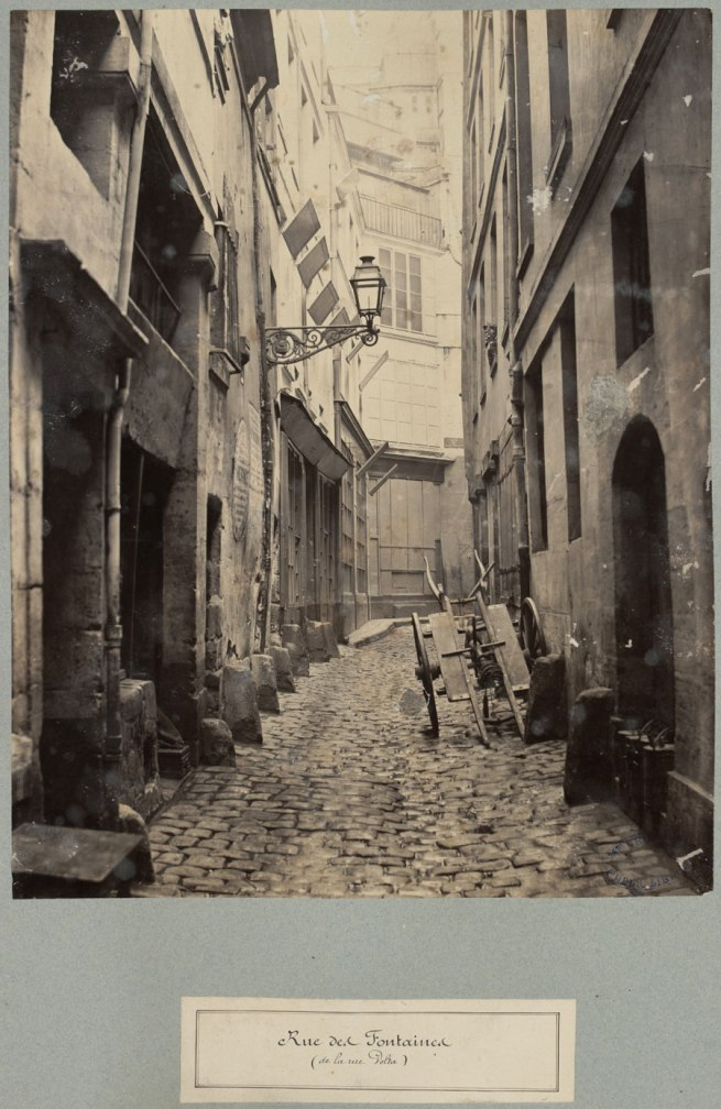 Charles Marville. 'Rue de Fontaines' c. 1863-69