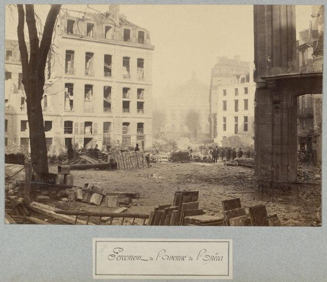Charles Marville. 'Percement de l'avenue de l'Opéra' (Clearing of the Avenue de l'Opéra) c. 1876