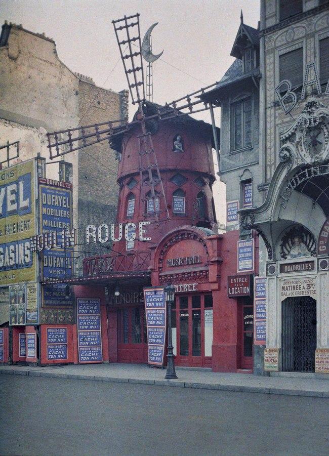 Stephane Passet. 'Le Moulin Rouge, Boulevard de Clichy (18°) Paris' 24 June 1914