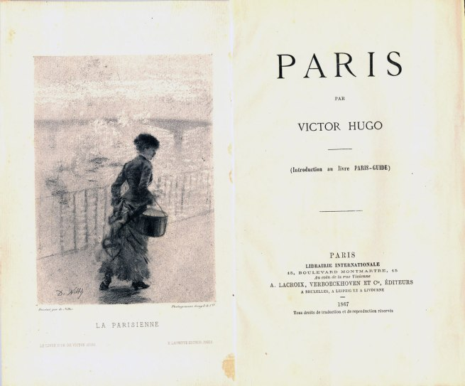 Victor Hugo. 'Paris' Paris, 1867