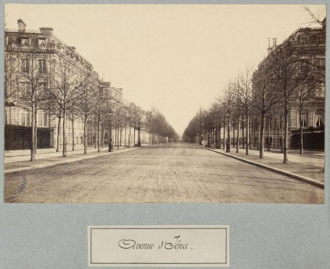 Charles Marville. 'Avenue d'Iéna' c. 1877
