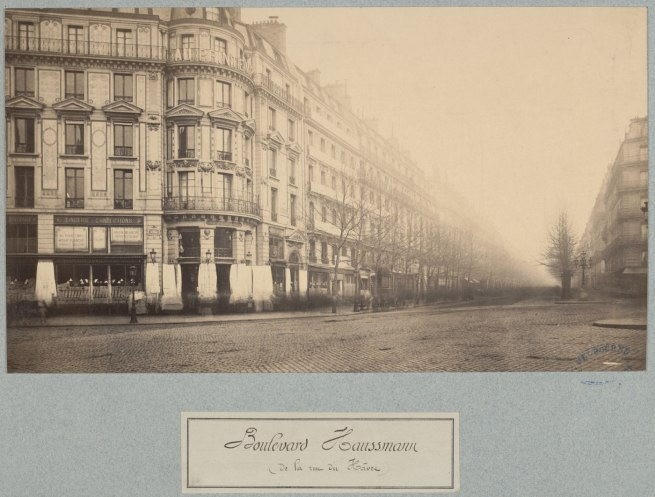Charles Marville. 'Boulevard Haussmann' c. 1877