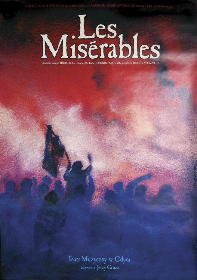 Design by Slawomir Kitowski. 'Les Misérables poster' 1989-2000