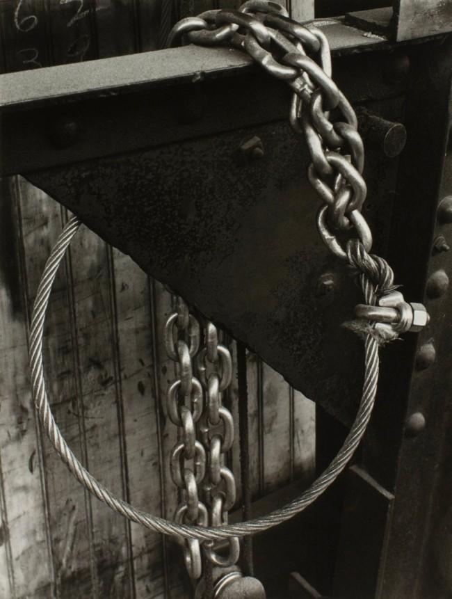 Minor White. 'Design (Cable and Chain), Portland, Oregon' c. 1940