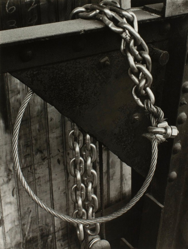Minor White. 'Design (Cable and Chain), Portland, Oregon' c. 1940