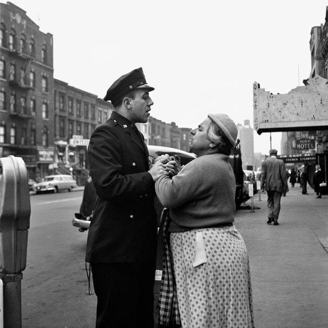 Vivian Maier. 'Armenian woman fighting on East 86th Street, September, 1956, New York, NY'