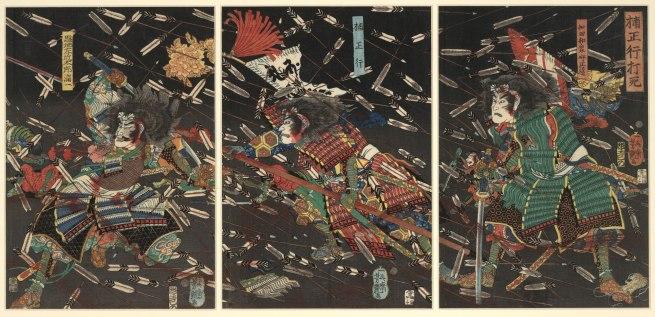 Utagawa Yoshitsuya. 'The death of Kusunoki Masatsura' 19th century