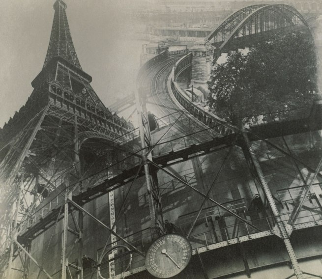 Éditions Paul Martial, Paris. 'Eiffel tower, tank and rail bridge' c. 1930-31