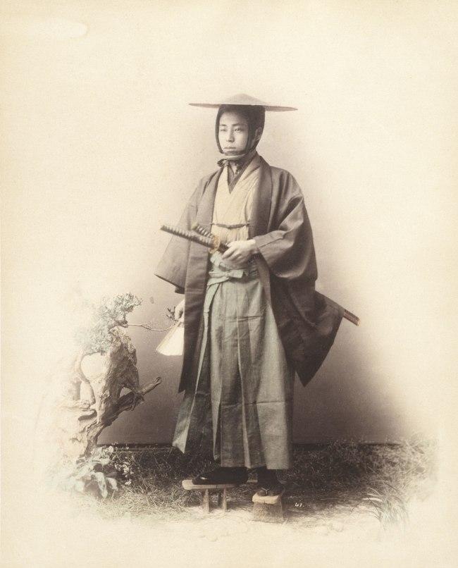 Felice Beato (attributed to) 'No title (Samurai warrior)' 1860s-1870s
