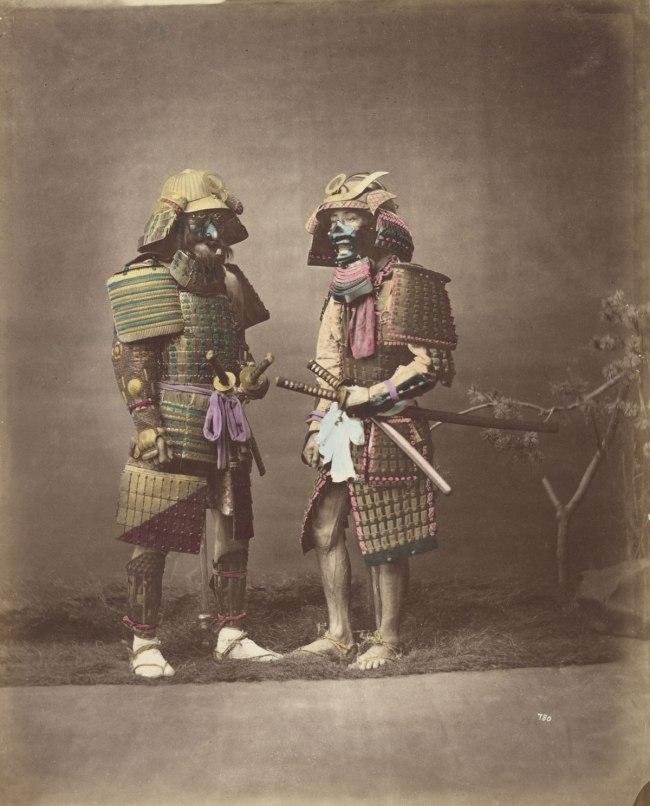 Baron Raimund von Stillfried. 'No title (Samurai in armour)' c. 1875