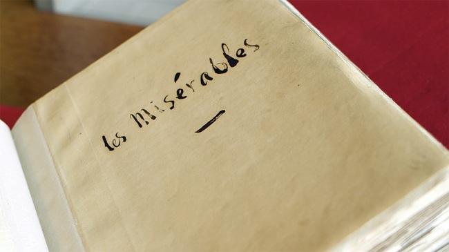 Victor Hugo. 'Title page of 'Les Misérables' vol. 1' 1845-1862