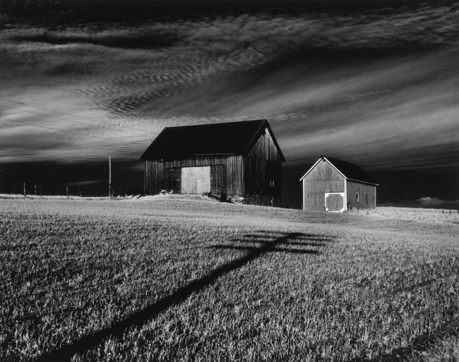 Minor White. 'Vicinity of Dansville, New York' Negative, 1955; print, 1975