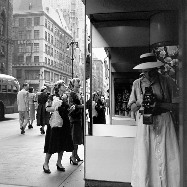 Vivian Maier. 'Self-Portrait, 1950ies'