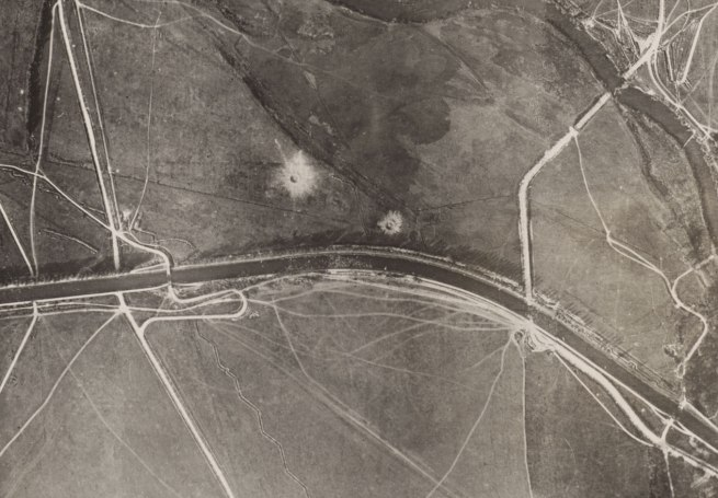 Photographic Section, U.S. Air Service, American Expeditionary Forces (AEF) and Major Edward J. Steichen, A.S.A. 'In Chateau Thierry Sector showing service bridges destroyed by retreating enemy forces' (detail) September 7, 1918
