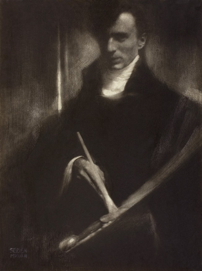 Edward Steichen. 'Self-Portrait with Brush and Palette' 1902