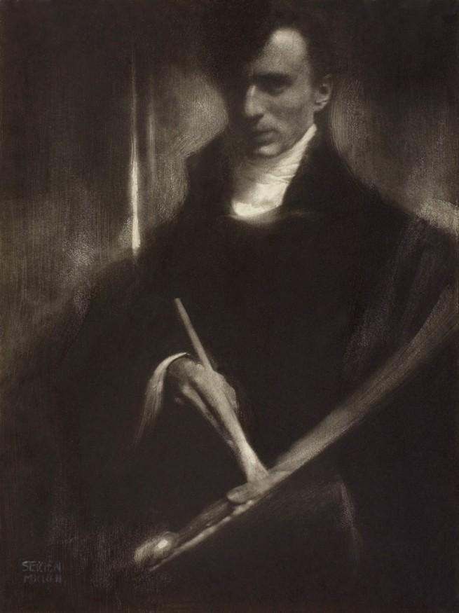 Edward Steichen. 'Self-Portrait with Brush and Palette' 1902