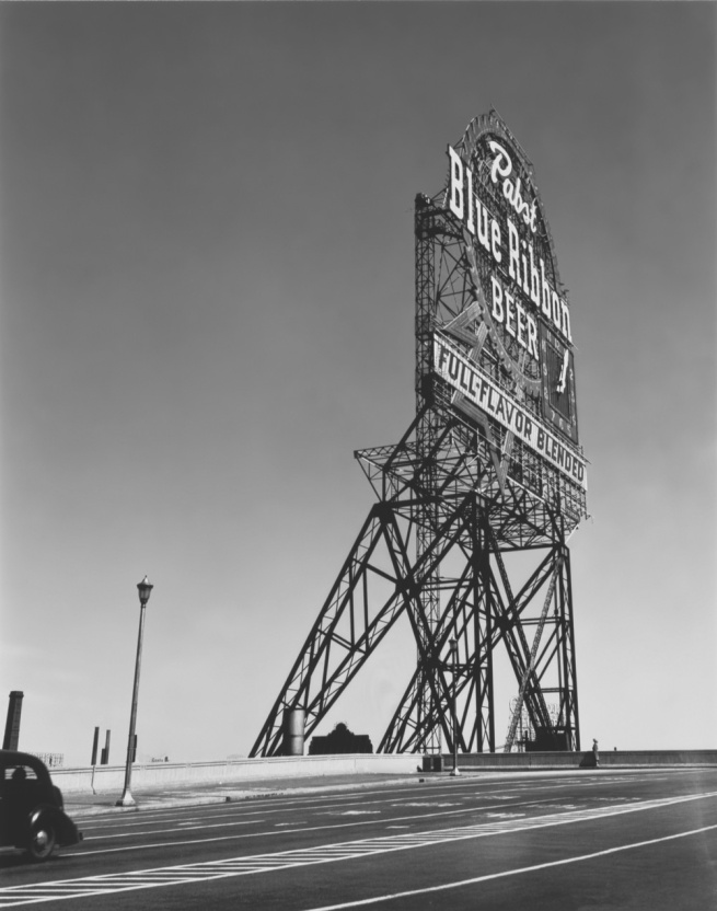 Walker Evans. 'Pabst Blue Ribbon Sign' Chicago, Illinois, 1946