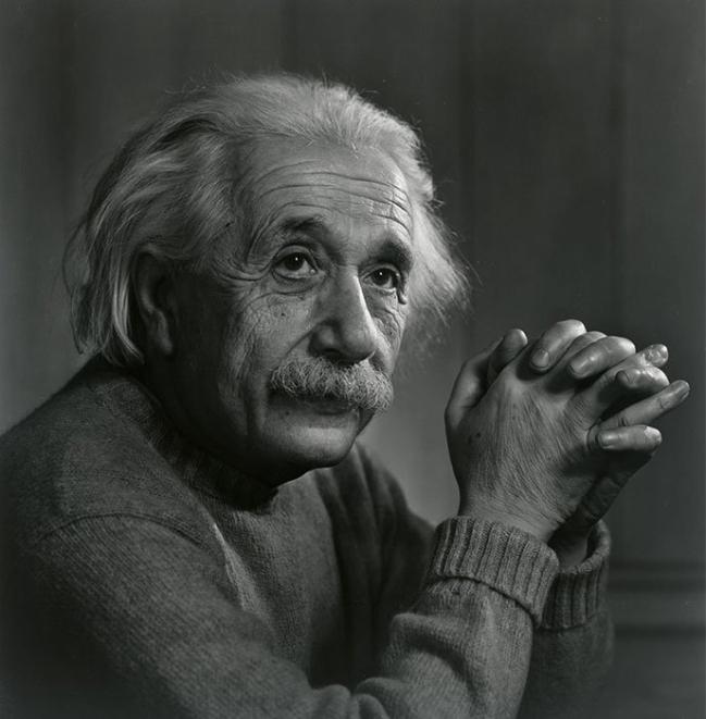 Yousuf Karsh. 'Albert Einstein' 1948