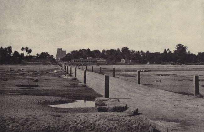Linnaeus Tripe. 'Madura: The Vygay River, with Causeway, across to Madura, January – February 1858' 1858