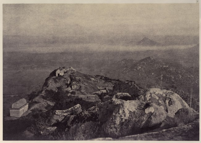 Linnaeus Tripe 'Royacottah: View from the Top of the Hill, Looking North-Northwest and by North, December 1857 - January 1858'